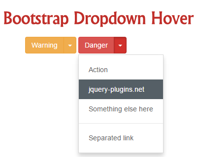 Bootstrap Dropdown Hover