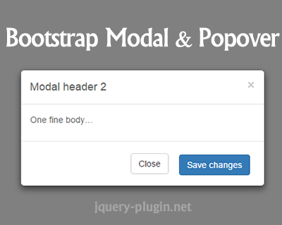 Bootstrap Modal and Popover with Velocity js Animation