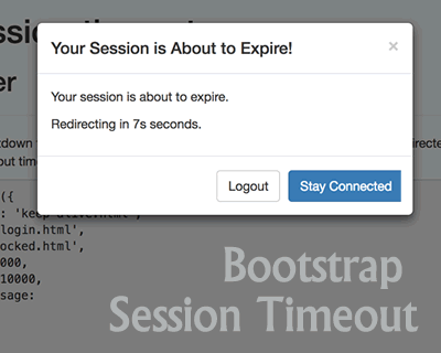 Bootstrap Session Timeout