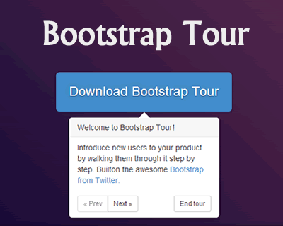 Bootstrap Tour – Quick and Easy Product Tours with Bootstrap
