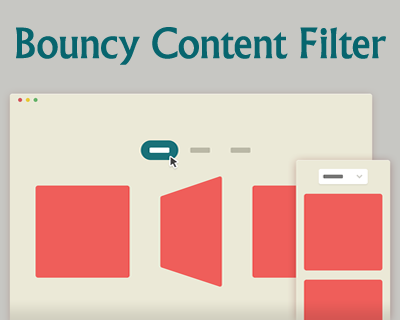 Bouncy Content Filter with CSS and jQuery
