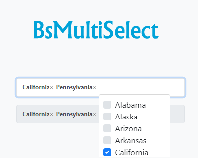 BsMultiSelect – Lightweight Multiselect Plugin for Bootstrap 4