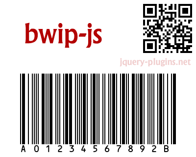 bwip.js – Barcode Writer in Pure JavaScript