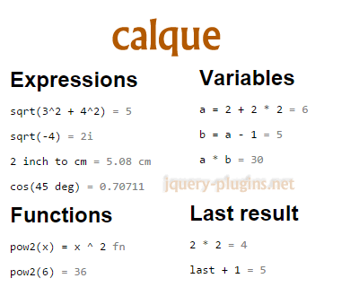Calque – Improved Calculator with Javascript