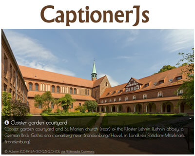 CaptionerJs – jQuery Plugin for Captions