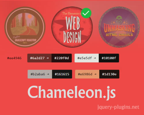 Chameleon.js – Easy Get and Use Colors From Image