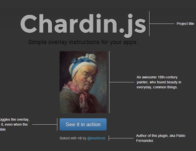 Chardin.js – Simple Overlay Instructions for Your Apps