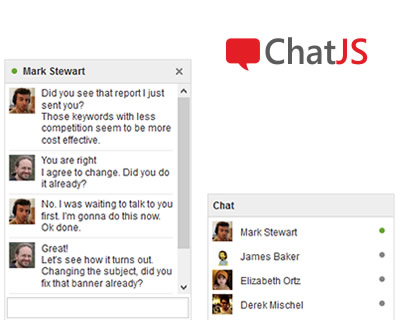 ChatJS – Facebook Style Chat Plugin