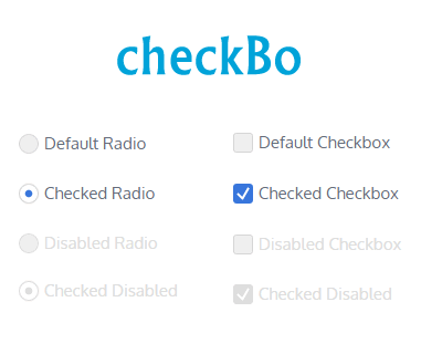 checkBo – jQuery Plugin for Custom Checkbox and Radio