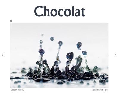 Chocolat – Responsive jQuery Lightbox Plugin