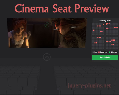 Cinema Seat Preview Experiment with CSS and Javascript