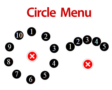 Circle Menu – Customizable Circular Menu jQuery Plugin