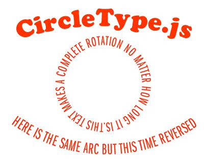 CircleType.js – jQuery Plugin for Circular Text