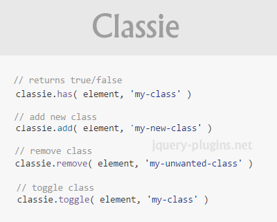Classie – Class Helper Functions