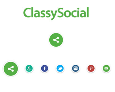 ClassySocial – jQuery Plugin to Display Social Buttons