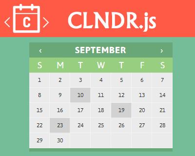 CLNDR js – jQuery Calendar Plugin | jQuery Plugins