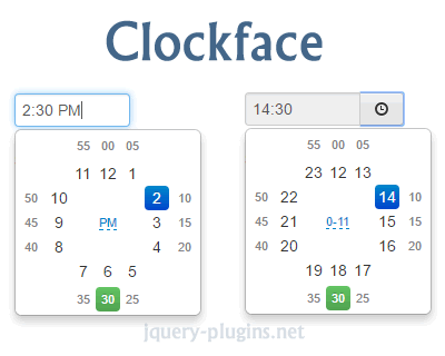 Clockface – Timepicker for Bootstrap