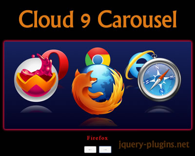 Cloud 9 Carousel – 3D Carousel for jQuery