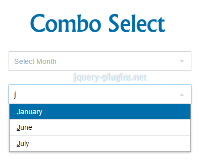 Combo Select – jQuery Plugin to Create Searchable Select List