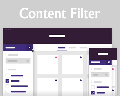 Content Filter – Slide-In Filter Panel with CSS and jQuery