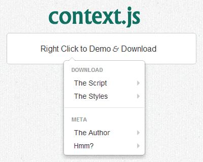 Context.js – Bootstrap Context Menu
