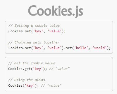Cookies.js – JavaScript Client Side Cookie Manipulation Library