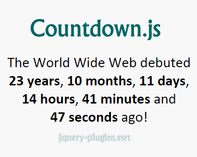 Countdown.js – Javascript Library to Create Countdown