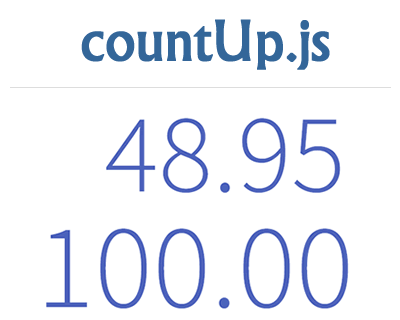 countUp.js – JavaScript Count Up with Animation