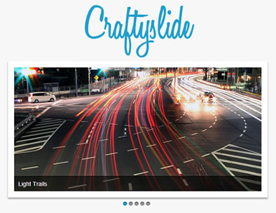 Craftyslide – Tiny jQuery Slideshow Plugin