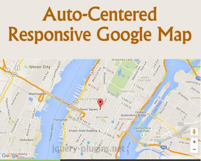 Create An Auto-Centered Responsive Google Map