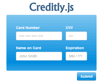 Creditly.js – Intuitive Credit Card Form