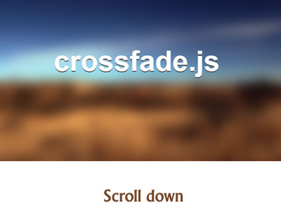 Crossfade.js – Crossfading Images as You Scroll Down Page