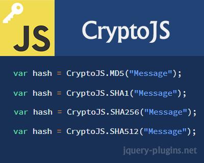 CryptoJS – JavaScript Library of Crypto Standards