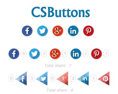 CSButtons – Custom Share Buttons