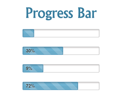 CSS3 Progress Bar with jQuery | jQuery Plugins