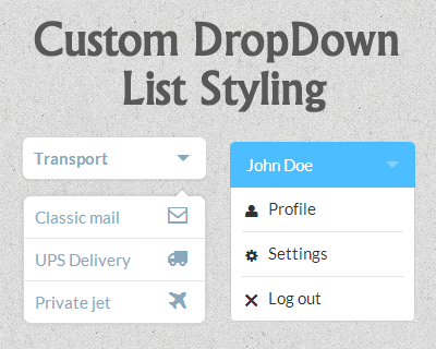 Custom Drop-Down List Styling