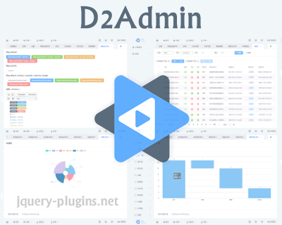 D2Admin – An Elegant Open Source Dashboard