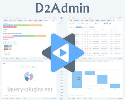D2Admin – An Elegant Open Source Dashboard