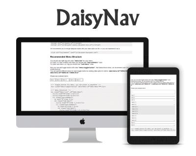 DaisyNav – Responsive Dropdown Navigation