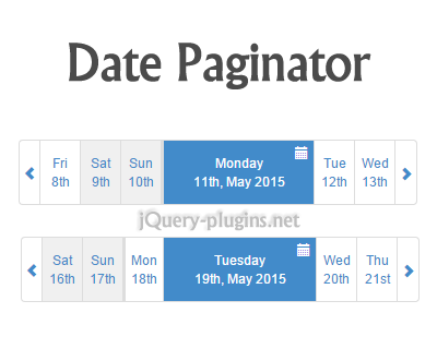 Date Paginator for Bootstrap