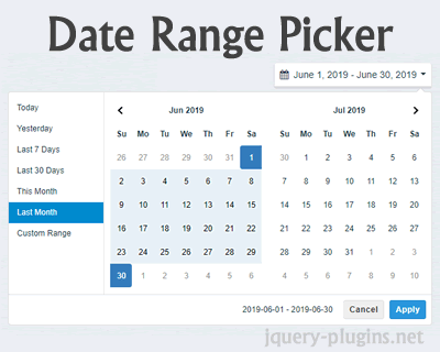 Date Range Picker – JavaScript Date Range Picker Component