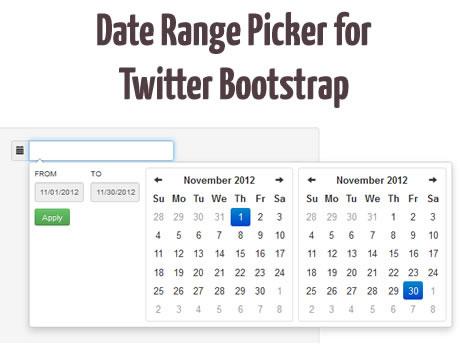 Date Range Picker Plugin for Twitter Bootstrap