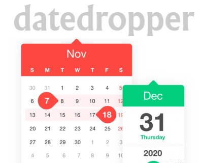 datedropper jQuery – Customizable and Easy to Use Datepicker Plugin