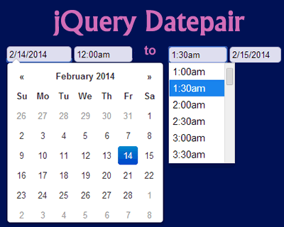 Datepair – Google Calendar Like jQuery Date & Time Range Picker