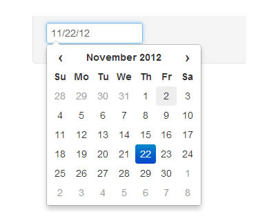 Datepicker for Twitter Bootstrap