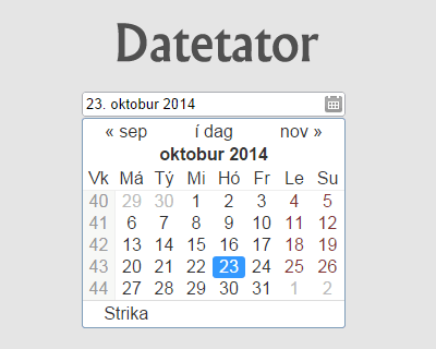 Datetator – jQuery Datepicker Plugin