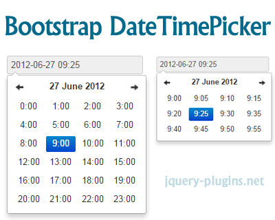 DateTimePicker for Bootstrap