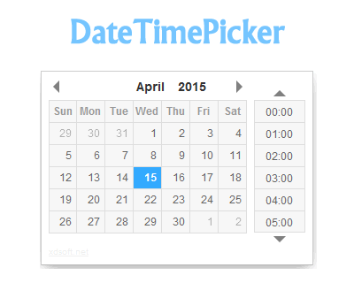 DateTimePicker – jQuery Date and Time Picker Plugin