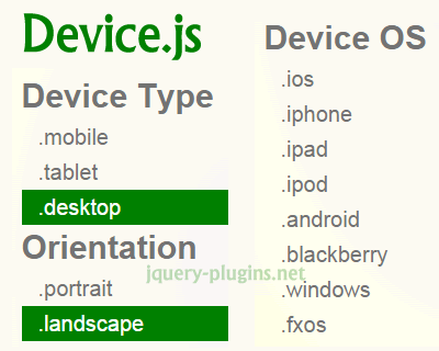 Device.js – Javascript Library for Device Detection