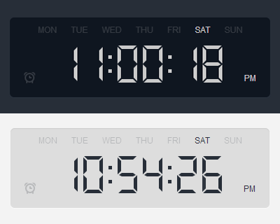 How to Make a Digital Clock with jQuery and CSS3 | jQuery